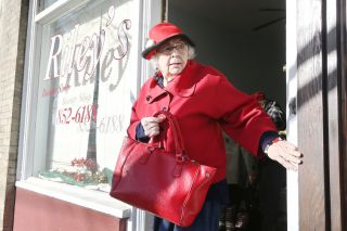 Rockne Roll / News-Register##Phyllis Riley leaves her salon in Carlton, where she cut and curled hair until retiring at the end of 2016.