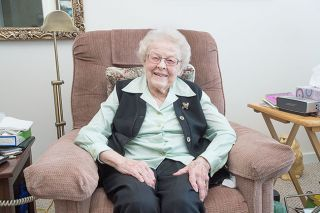 Marcus Larson/News-Register##DeJong enjoys her life in McMinnville. She'll celebrate her 100th birthday with friends and family at a party in her honor on Saturday, Jan. 14.