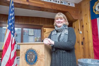 Marcus Larson/News-RegisterCarlton American Legion Memorial Post 173 Commander Renee Ohler sees her role as one of making sure other members can pursue their interests.