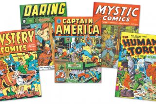 Alex Schomburg, below, the artist behind dozens of World War II-era comic book covers, lived in Newberg from 1962 untill his death in 1998. In his later years, he was a frequent guest lecturer at George Fox University.