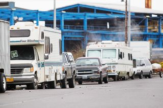 Rockne Roll / News-Register##Trucks and RVs parked along Doran Drive have raised concerns among nearby residents of the north McMinnville neighborhood. Some went to the McMinnville City Council meeting Jan. 9 to demand city officials take action to discourage campers.