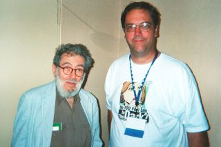 Submittted photo##Journalist, First Amendment advocate and jazz historian Nat Hentoff met with Tom Henderson in 2004 at the Society of Professional Journalists convention in New York City. Henderson was the president of the Oregon chapter of SPJ at the time.