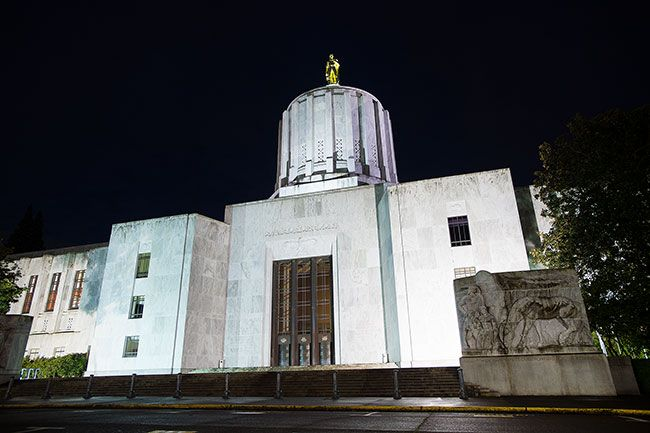 Marcus Larson/News-Register##The Oregon State Capitol Building in Salem