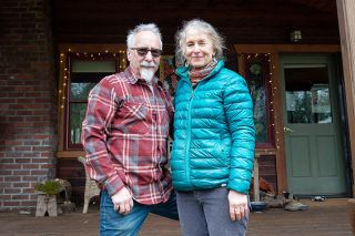 Marcus Larson/News-Register## Retired veterinarian Eric Witherspoon and his wife, Artist Annie Witherspoon - here at their home northwest of Yamhill - have supported each other since they met in college. They moved to Oregon in 1980 to open the Carlton vet Clinic.