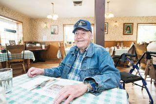 Marcus Larson/News-Register ## Milton Roten enjoys getting lunch at Coyote Joe's every Monday, Thursday and Friday. He's in good health and, at 100, boasts that he can eat whatever he wants — including cookies.