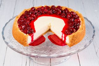 © Can Stock Photo / dr911##Spoil your valentine with a cherry cheesecake — no chocolate in sight.