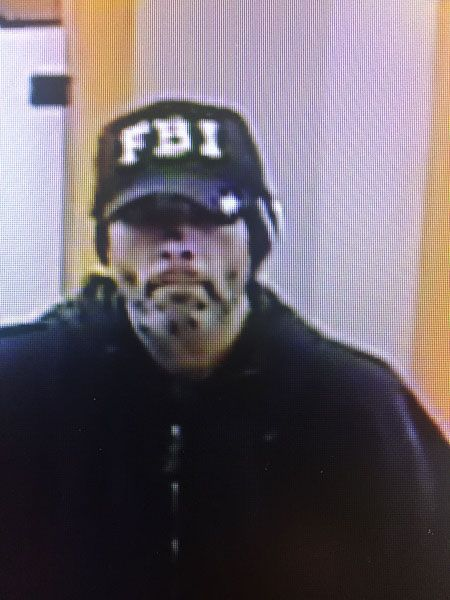 Submitted photo##The FBI is offering a reward for information that leads to the arrest of this man, suspected of robbing five banks in the valley.