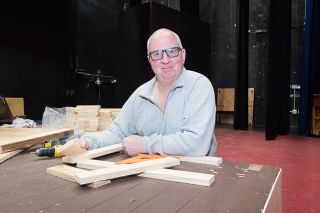 Marcus Larson/News-Register##Ben Frum grew up in McMinnville and caught the theater bug in Carol Scofield Burnett's junior high drama class. He's gone on to take part in more than 250 shows — but always backstage.