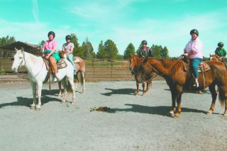 Submitted photo##Members of the D'Gadabouts ride horses at Sunriver, one of the group's regular destinations each year.