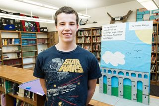 Marcus Larson/News-Register##Good Citizen winner Daniel Mather is a top student at Amity High School. He plans to combine interests in history, math and science in his senior project, building a 4-foot-long working model of a Roman aqueduct out of Legos.