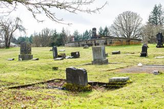 Paul Daquilante / News-Register##A great deal of history can be found in the Willamina Cemetery.