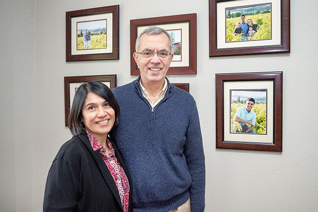 Marcus Larson/News-Register## Isabel and Angel Aguiar raised their family in Dayton. They said it will be hard to leave home, but they re excited about serving their church and learning about a new culture.