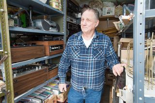 Marcus Larson/News-Register ## Robert Walker is working on distributing his late friend Dick Miller's collections to good homes. Right now, they fill his garage.