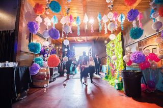 "Marcus Larson/News-Register##The entrance to the seventh-annual Father Daughter Ball at Ken Wright Cellars was decorated in this year's theme, ""Under Water."""
