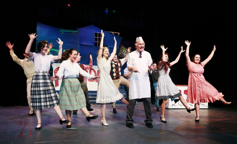 "News-Register file photo##Walt Haight leads a dance number in ""Reefer Madness"" at Gallery Theater. Arts and culture are important players in the local economy."