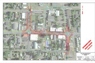 Submitted art##ODOT plans to rebuild Main Street downtown, but now the project manager thinks parking could remain, with shared lanes for bikes. Residents still are considering an alternative route.