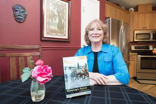 "Marcus Larson/News-Register##McMinnville's Linda Kuhlmann will launch her book ""Koenig's Spirit,"" the second in a series, this week at Third Street Books."