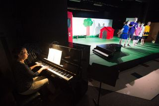 "Marcus Larson/News-Register##Accompanist Julie Louderback provides the musical backdrop to Amity High School's production of ""You're a Good Man, Charlie Brown."" The show opens  March 14 in the school theater."