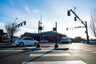 Marcus Larson / News-Register##New traffic lights, including those along the Fifth Street corridor and the Adams and Baker intersections, are almost finished.