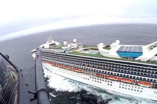 Submitted photo##The Grand Princess cruise ship, on which passengers were kept due to concerns over coronavirus.