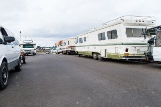 Marcus Larson / News-Register##RVs parked near YCAP headquarters.
