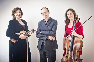 Submitted photo##The Gould Piano Trio: violinist Lucy Gould, pianist Benjamin Frith and cellist Alice Neary.