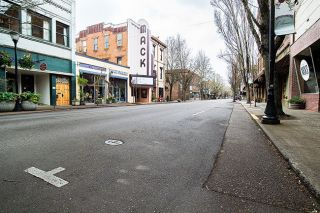 Marcus Larson/News-Register##Third Street in McMinnville devoid of people and cars Thursday afternoon.