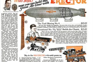 ##This advertisement for an Erector Set appeared in the December 1929 issue of Popular Science Magazine.