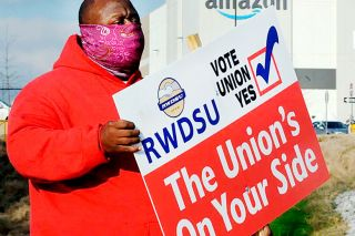AP Photo/Jay Reeves ## Amazon workers in Bessemer, Alabama, are hoping to become the retailer's first unionized employees in the U.S.