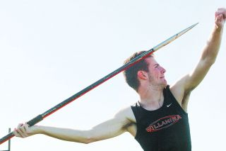 Rockne Roll/News-Register##Willamina junior Leo Boardman threw the boys' javelin 147 feet even at Thursday's Class 3A West Valley League track and field meet at Amity High School, finishing second in the event. The mark was a personal best for Boardman.