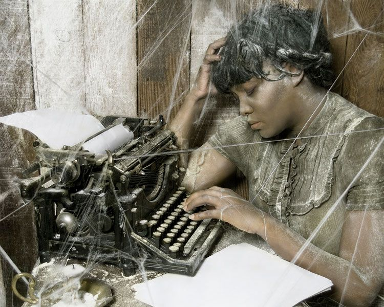 "Photo courtesy of Jamila Clarke##This photo, titled ""Wrote Nothing,"" is photographer Jamila Clarke's metaphor for procrastination. With its vintage clothing and Underwood No. 5 typewriter, it combines many of the common elements in Clarke's photography -— especially her fascination with the aesthetics of the past."