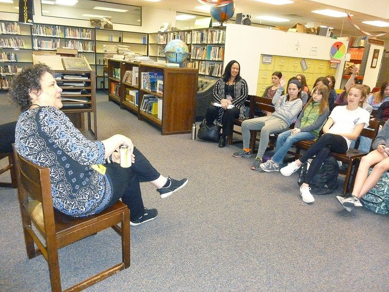 Middle Schoolers Meet A Favorite Author