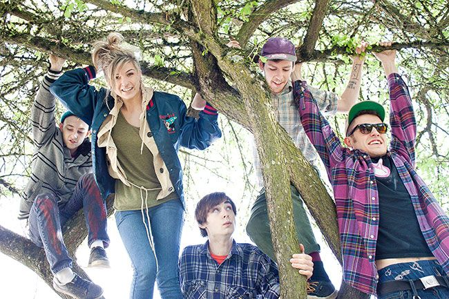 Ossie Bladine/News-RegisterThe Hill Dogs (left to right: Lucas Benoit, Kayla Stroik, Kody Mikkelson, Taylor Kingman and Ricky Rohr), who just released their debut album, will perform Saturday at La Casa Verde in the Granary District.
