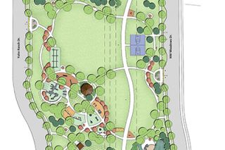 Submitted photo##City officials revealed this design plan for a proposed park in Northwest