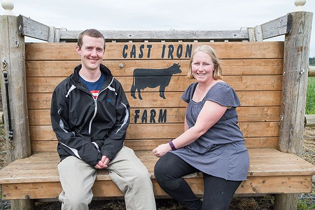 Marcus Larson / News-Register##Outstanding Farmers Jared and Christine Anderson.