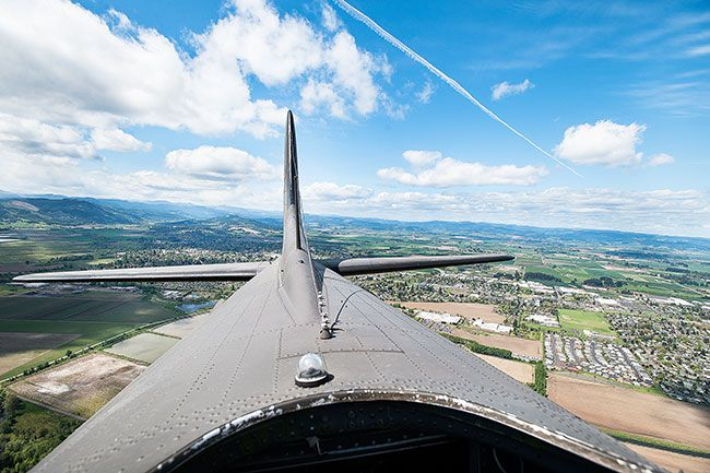 Marcus Larson/News-RegisterThe top gun turret opening affords a dramatic view.