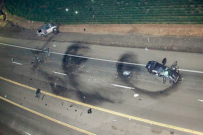 Oregon State Police##Jeremy Hopper crashed his Mitsubishi into a car driven by Claudio Martinez-Marquez.