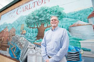 Marcus Larson/News-Register##Interim Amity City Administrator Chad Olsen spent six years in Carlton before retiring.