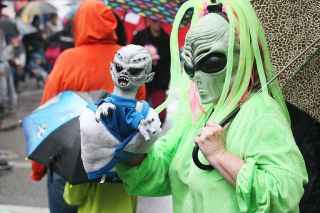 News-Register file photo##Visitors from Earth and beyond are gathering in downtown McMinnville this weekend for the annual UFO Festival.
