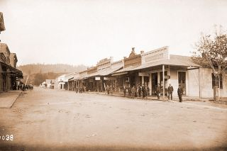 Image: Oregon Historical Society ## California Street in Jacksonville as it appeared in the mid-1880s. The town probably looked not much different in 1868 when Sam Simpson and Ted Harper came through on the trail of the Wilson brothers' stash of gold.