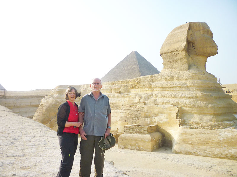 Submitted photo##John and Caye during a vacation to Egypt.