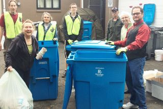 Submitted photo###Volunteers from Zero Waste staffed 10 different stations throughout downtown McMinnville during the UFO Festival this past weekend. They collected 700 pounds of compostable material.