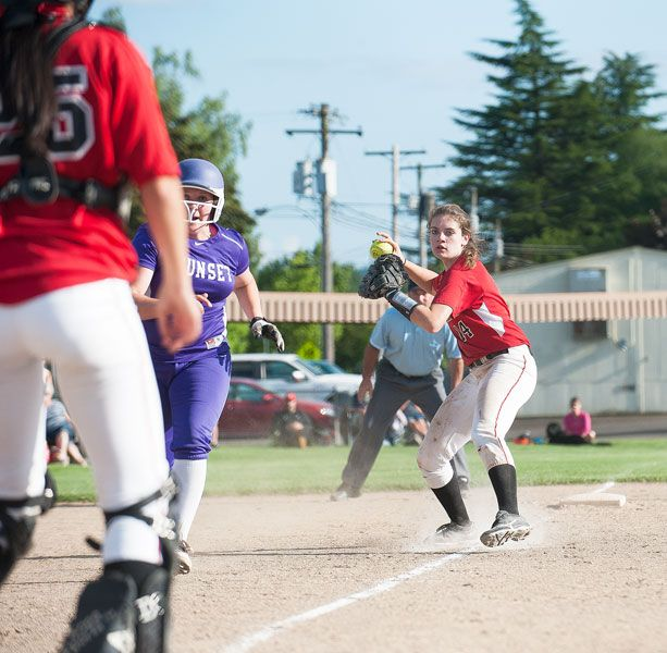 News-Register staffMcMinnville third baseman Sydni Dix (14) and catcher Makayla Khatewoda (25) were among six Grizzlies awarded Class 6A Pacific Conference postseason honors.