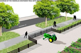 Submitted graphic shows a section of the proposed trail.