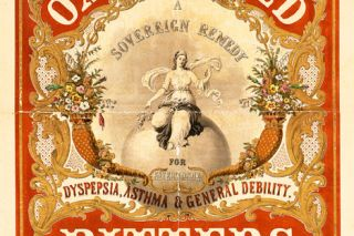 Image: Library of Congress##An advertising circular promoting a patent medicine of the type often sold at traveling medicine shows; this label dates from 1851.