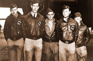 "doolittleraider.com##The flight crew of the ""Bat Out Of Hell,"" in front of their B-25 before setting