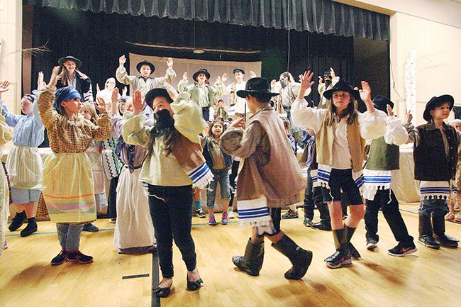 Rockne Roll / News-Register##Yamhill-Carlton elementary and intermediate school students perform  Tradition  from  Fiddler on the Roof Jr.