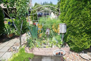 Marcus Larson/News-Register ## Linda Thompson's yard is decorated with recycled and reused items turned into garden art.