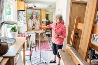 Rusty Rae/News-Register ## Artist Tricia Wente, pictured in her Lafayette studio, used pastels to create her portrait of 2018 Rose Festival Queen Kiara Johnson.