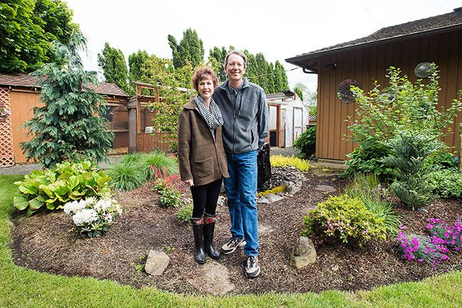 Marcus Larson / News-Register##John and Edwina Castle met in the greenhouse at Oregon State University, 